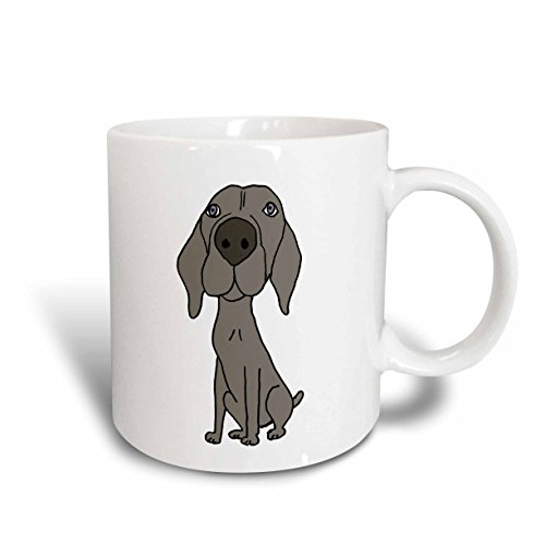 3dRose 200123_6 Cute Puppy Dog Cartoon Mug, 11oz, Blue