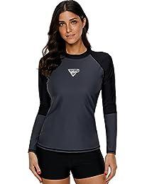 beautyin Women's Long Sleeve Rashguard UPF 50+ Swimwear Rash Guard Athletic Tops