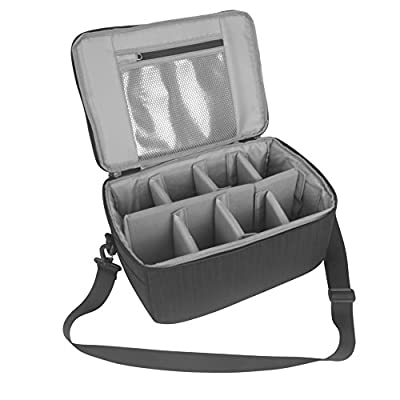 Koolertron DSLR Camera Insert Bag Purse Universal Liner Lens Pouch Partition Protective Cover Waterproof Sleeve for Cannon/Nikon/Sony