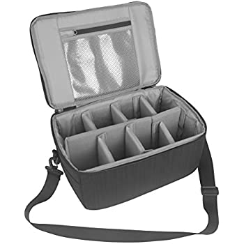 Koolertron Camera Case Insert,Koolertron Dslr Camera Insert Bag Purse Universal Liner Lens Pouch Partition Protective Cover Waterproof Sleeve for Cannon/Nikon/Sony (Black)