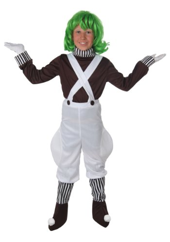 Willie Wonka Chocolate Factory Worker Child Loompa Costume -