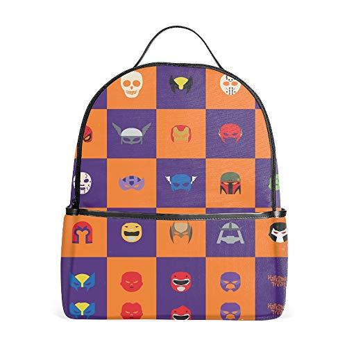 Abstract Halloween Zipper School Bookbags Rucksack Travel Backpacks -