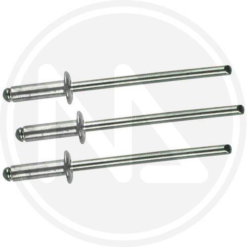 Rivetti in alluminio con testa larga in scatola da 500 pz Misura 4,0x10 mm.