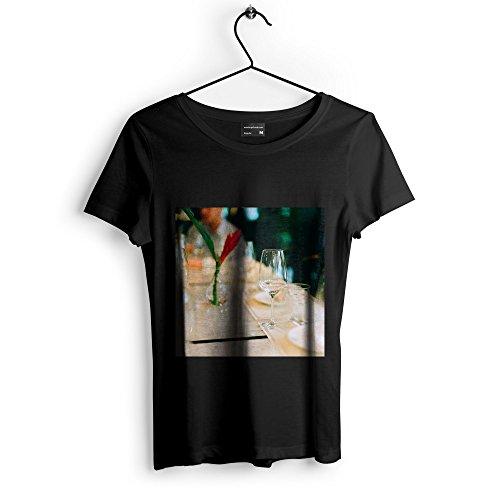 Westlake Art Unisex T-Shirt - Cafe Wine - Graphic Tee - Black Adult Medium (e3t 412 91d) Cafe Liqueur