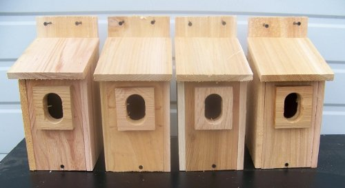 4 Bluebird House with Cedar And.peterson Oval Opening..cedarnest For Sale