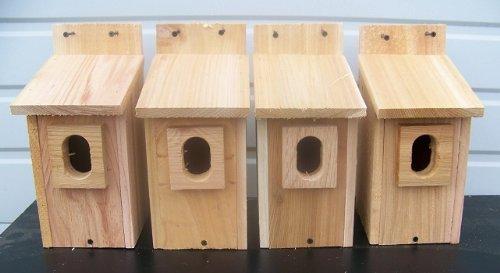 4 Bluebird House with Cedar And.peterson Oval Opening..cedarnest