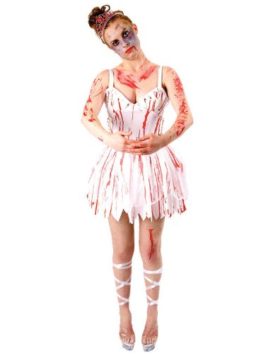 Disfraz de bailarina zombie para Halloween (adulto): Amazon ...