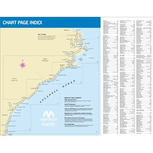 MAPTECH PAPER CHARTS Maptech ChartKit Book w/Companion CD - Norfolk VA to Florida and the Intracoastal Waterway ()
