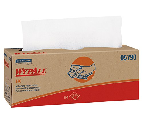 WypAll L40 Disposable Cleaning and Drying Towels (05790), Limited Use Wipers, White, 9 Pop Up Boxes per Case, 100 Sheets per Box, 900 Sheets Total (Wipers Professional Wypall)