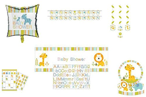 Happi Jungle Baby Shower Party Decorations, Favors, and Centerpiece 6-Piece Bundle by ShoppeShare