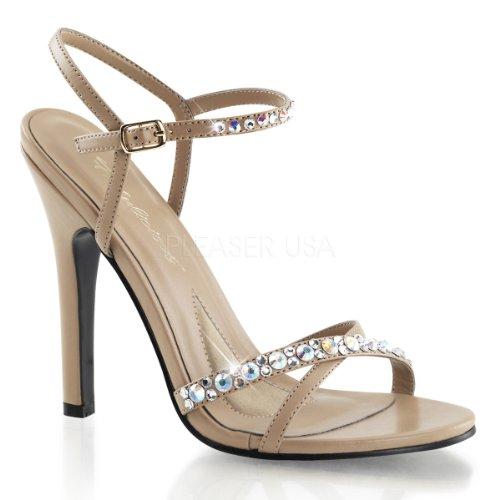 Fabulicious Womens Melody15 Ankle Strap Fashion Pumps Taupe PU iTKTyql5