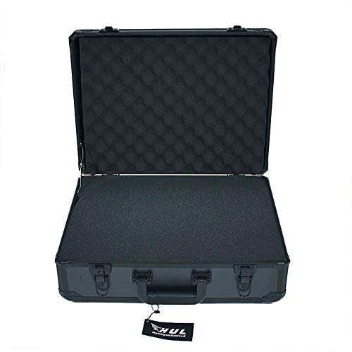 HUL 19in Aluminum Case with Customizable Pluck Foam Interior for Test Instruments Cameras Tools Parts and Accessories