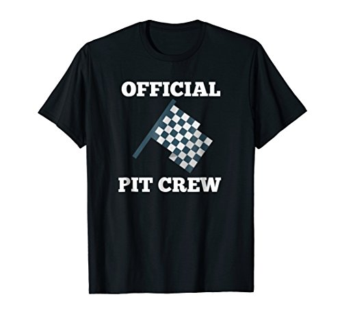 T-shirt Checkered Flag - Official Racing Pit Car Crew Checkered Flag T Shirt Gift