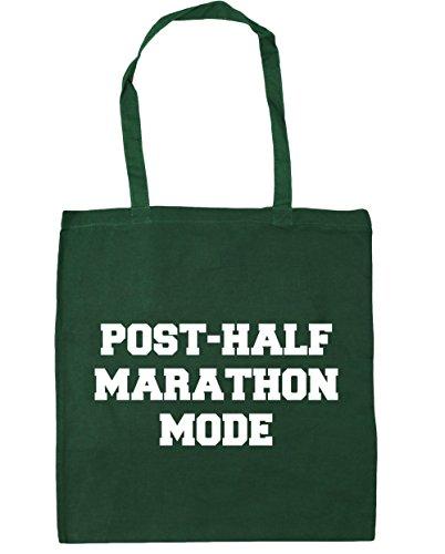 HippoWarehouse nach dem halben Marathon Mode Einkaufstasche Fitnessstudio Strandtasche 42cm x38cm, 10 liter - Flaschengrün, One size