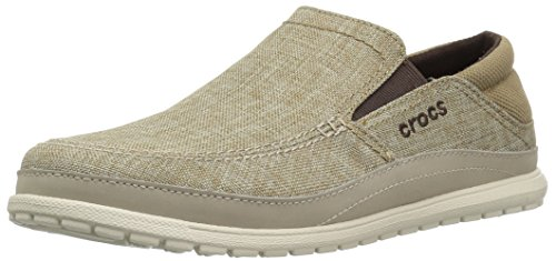 Crocs Men's Santa Cruz Playa Slip-On Loafer, Khaki/Stucco, 11 M US