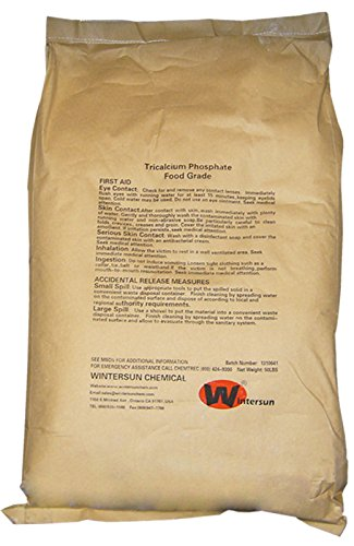 Tricalcium Phosphate Powder [Ca3(PO4)2] [CAS_7758-87-4] Food Grade, White (50 Lbs Bag) by Wintersun Chemical