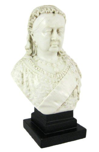 Queen Victoria Marble-Like Mini Bust Statue