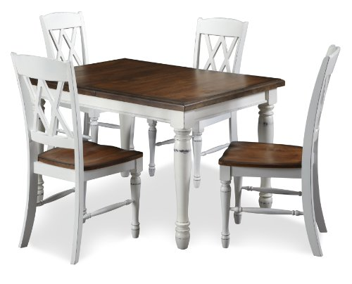 Home Styles 5020-308 Monarch Rectangular Dining Table and Four Double X-Back Chair