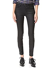 Current/elliott Woman Distressed Mid-rise Slim-leg Jeans Light Denim Size 26 Current Elliott