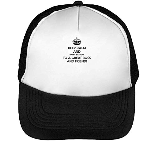 Keep Calm Happy Birthday To A Great Friend Gorras Hombre Snapback Beisbol Negro Blanco