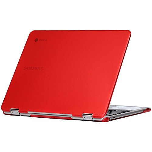 iPearl mCover Hard Shell Case for 12.3 Samsung Chromebook Plus XE513C24 Series (NOT Compatible with Older XE303C12 / XE500C12 / XE503C12 Models) Laptop - Chromebook Plus XE513C24 (Red)