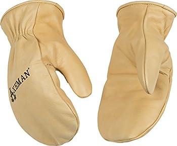 Kinco 1930 Axeman Heatkeep Thermal Lined Grain Cowhide Leather Mitt, Work, Large, Palomino (Pack of 6 Pairs)