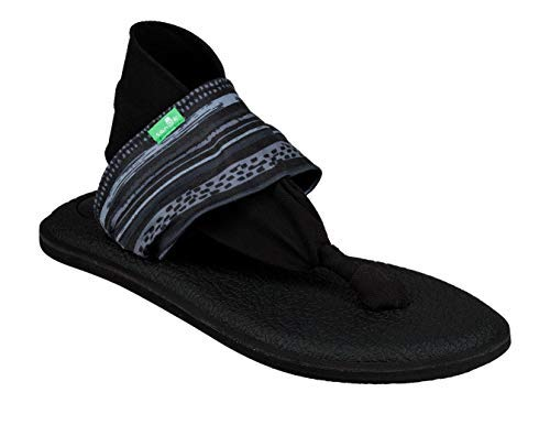 Sanuk Women's Yoga Sling 2 Sandal, Keys Ranch Blac, -