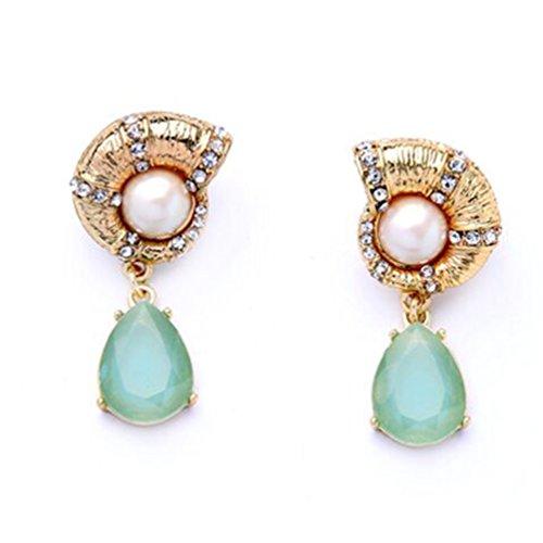 Aqua Antique Earring - 7