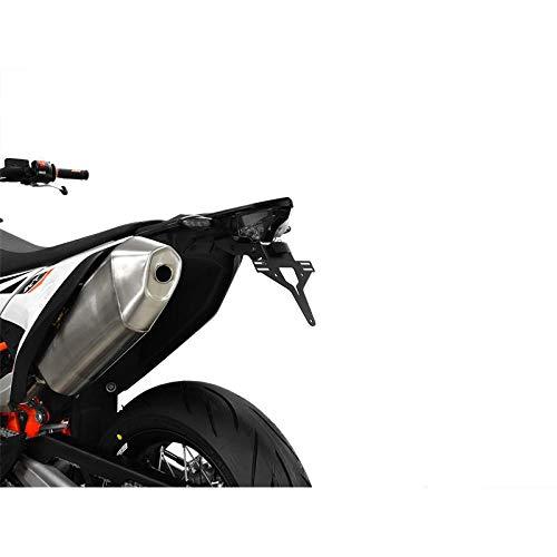 Supporto per targa piastra di supporto posteriore IBEX 10005267 con illuminazione targa e fanale posteriore trasformabile