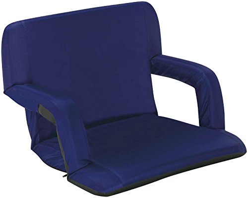 Naomi Home Venice Portable Reclining Seat with Armrest, Royal Blue (Large Stadium Seats With Backs compare prices)