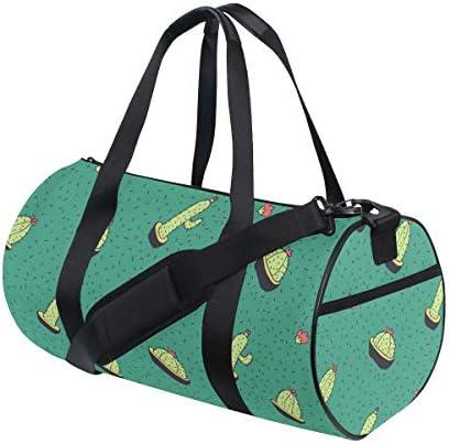 ボストンバッグ グリーン サボテン柄 ジムバッグ ガーメントバッグ メンズ 大容量 防水 バッグ ビジネス コンパクト スーツバッグ ダッフルバッグ 出張 旅行 キャリーオンバッグ 2WAY 男女兼用
