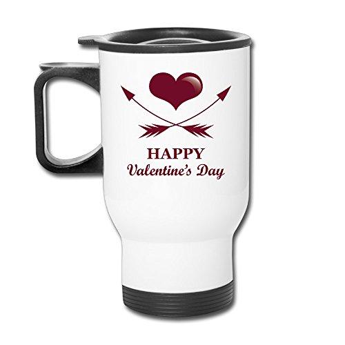 ZOENA Happy Heart Lover Poster Travel Mug Milk Cup Drinkware
