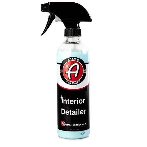 Adam's Interior Detailer 16oz - Clean and Dress Interior Surfaces in One Easy Step - Odor Neutralizers Kill Unwanted Odors - Anti-Static Formulation Adds UV Protection to Your Entire Interior (Best Smelling Leather Cleaner)