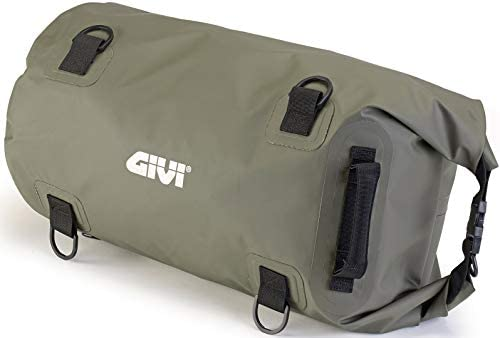 Givi Bolsa – Bolsa cilíndrica Impermeable para sillín o portaequipajes, 30 l, Color Verde Caqui, EA114KG