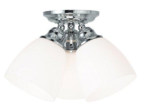 Livex Lighting 13664-05 Somerville 3-Light Ceiling Mount, Chrome