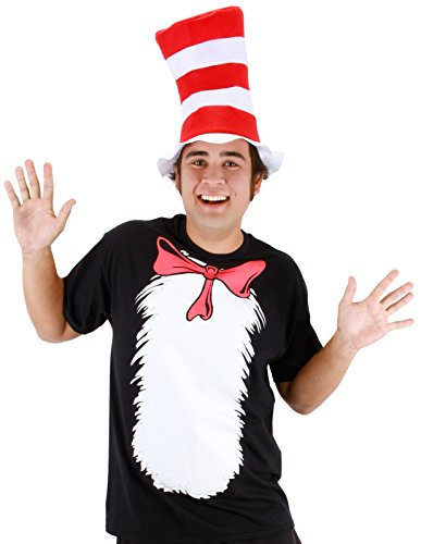 Dr Suess Hats (elope Dr. Seuss Cat in the Hat Short Sleeved T-Shirt)