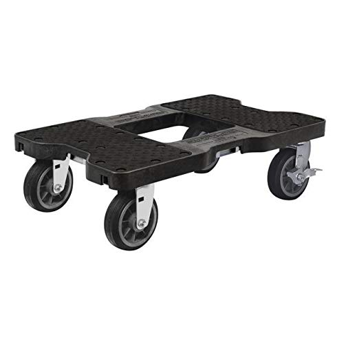 SNAP-LOC All-Terrain Dolly Black (USA!) with 1500 lb Capacity, Steel Frame, 6 inch Casters and Optional E-Strap Attachment 2 Piece 16' Snap Ring