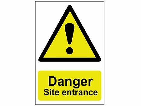 Amazon.com: Scan 4102 400 x 600mm PVC Danger Site Entrance ...