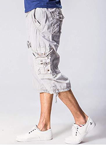 Bikerhose Fête Jogginghose De 3 Cargobe Bein Geradis Herren Sports Mit 4 Freizeithose Kampfhose Accessoires amp; Rmudas Kletterhose Vieler Sommer Extérieurs Cargohose Bundes Vêtements Taschen Grau Fans wwBSPnvZ