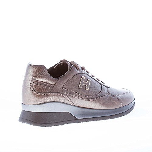 Hogan Sneaker Elective Shoes lace mud Leather Women Brown EUAYwrxU