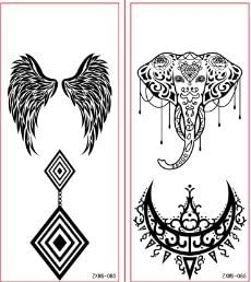 Tatuajes Negro Líneas Tatuajes 14 unidades Juego de joyas Tattoo ...