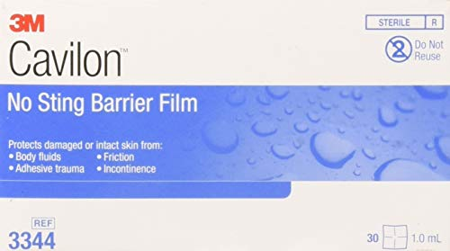 - Cavilon No Sting Barrier Film, Wipe, No Alcohol, Sterile, Box of 25