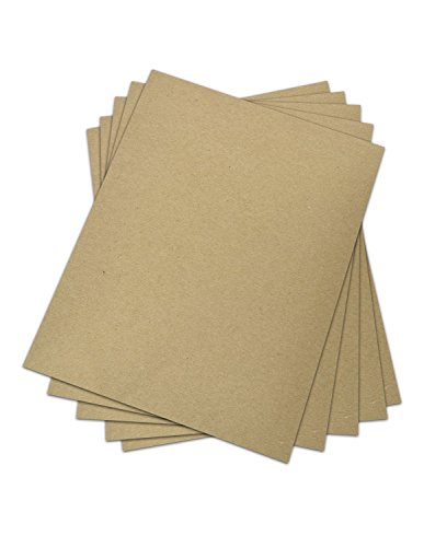 Chipboard - Cardboard Medium Weight Chipboard Sheets - 25 Per Pack.