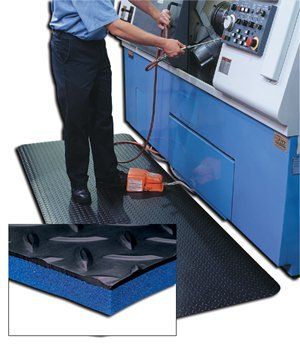Crown Mats And Matting, Crown Diamond Deck Matting With Zedlan Base - Solid Color - Full Rolls, Cc-Wdzm375, W X L: 3 X 75, Weight: 338, Color: Gray, Wdr3836-75