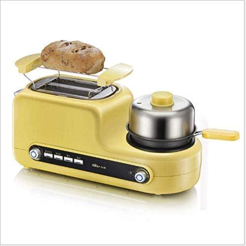 CattleBie Breadmakers, Portable Grille-Pain électrique en Acier Inoxydable de ménage Petit déjeuner Machine à Pain Automatique Cuisson Maker œufs frits Chaudière Poêle à Frire