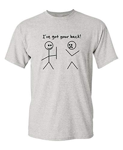 1ce6ceb3cb I Got Your Back Stick Figure Friendship Sarcastic Funny T Shirt 3XL Ash1