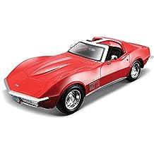 NEW 1:24 DISPLAY MAISTO SPECIAL EDITION - CANDY RED 1970 CHEVROLET CORVETTE STINGRAY Diecast Model Car By Maisto