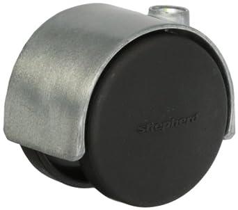 "Shepherd Pacer Hard Wheel Stem Caster 2/"" Twin Wheel One Satin 5//16/"" Threaded"