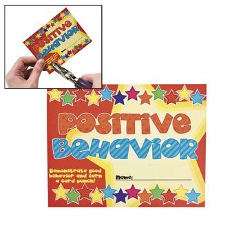 30 ~ Good Behavior Punch Cards ~ 4 5/8
