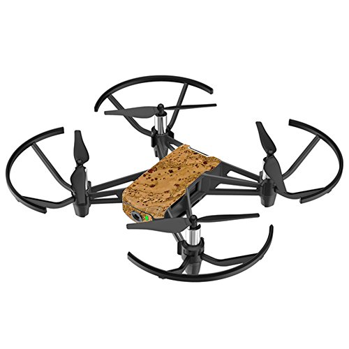 MightySkins Skin For DJI Ryze Tello Drone - Cork | Protective, Durable, and Unique Vinyl Decal wrap cover | Easy To Apply, Remove, and Change Styles | Made in the (Cork Fly Grip)